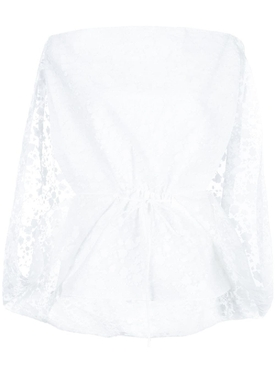 Lace cape blouse