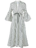 Rosie Assoulin - Striped Lantern Sleeve Dress - Women