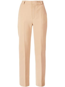 Carmen March - Crepe Beige Trousers - Women