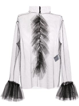Carmen March - Mesh Ruffled Blouse - Women