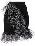 Carmen March - Metallic Ruffle Trimmed Skirt - Women