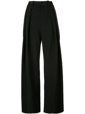Carmen March - Crepe Wide Leg Trousers - Women