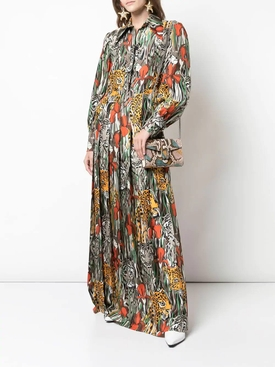 hidden animal maxi dress