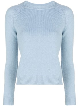 Alexandra Golovanoff - Ribbed Crew-neck Cashmere Sweater Blue - Women