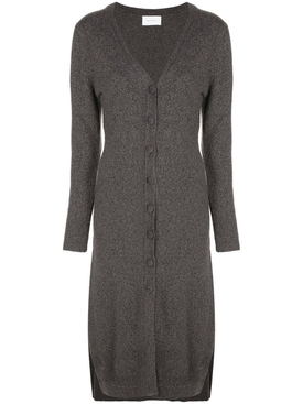 Alexandra Golovanoff - Grey V-neck Knit Dress - Women