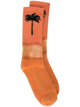 Palm Angels - Gradient Palm Tree Socks Orange - Men