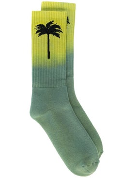 Palm Angels - Gradient Palm Tree Socks Green - Socks