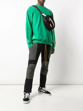 black neon trim pants