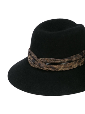 Rose Varnish fedora hat