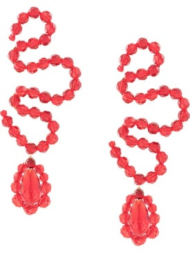 Simone Rocha - Red Wiggle Earring - Women