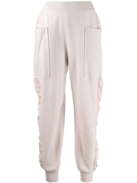 Knitted high-rise track pants