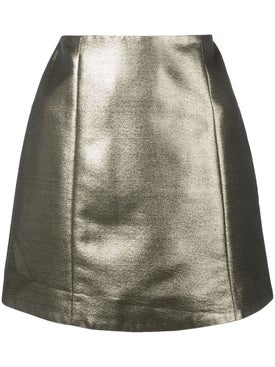 Alexachung - Dark Gold Metallic Mini Skirt - Women