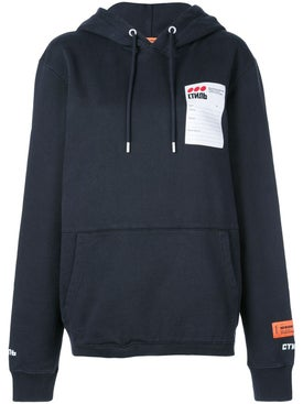 Heron Preston - Black Sticker Label Hoodie - Women