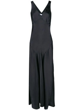 Paco Rabanne - Black Satin Maxi Dress - Maxi