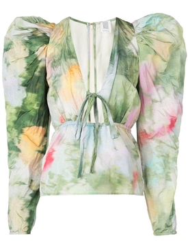 Victorian watercolor top