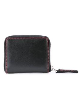 square logo print wallet BLACK