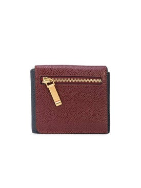 Thom Browne - Navy And Burgundy Front Flap Wallet - Men