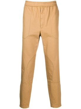 Khaki tapered leg track pants