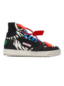 Off-white - Off Court 3.0 Hi-top Zebra Print Sneakers - High Tops