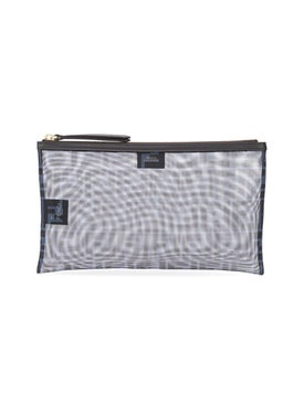 Fendi - Logo Mesh Pouch Blue - Women