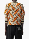 Burberry - Monogram Intarsia Wool V-neck Sweater - Women