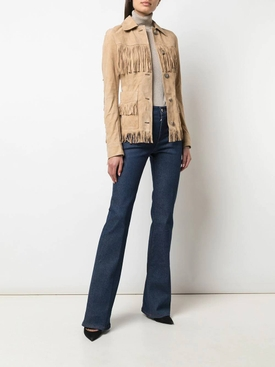 Fringed suede jacket