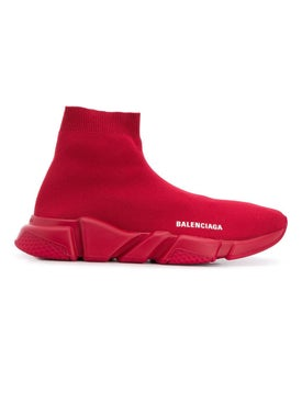 Balenciaga - Burgundy Speed Sock Sneakers - Men