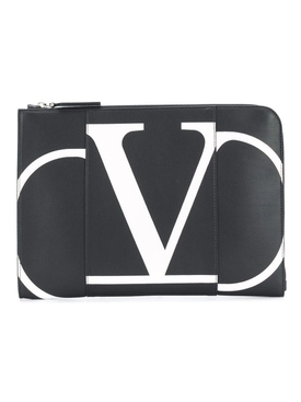 Valentino Garavani leather document case