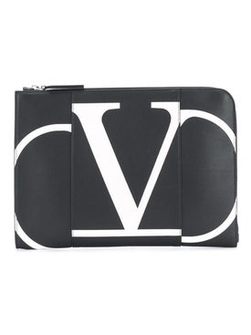 Valentino - Valentino Garavani Leather Document Case - Men