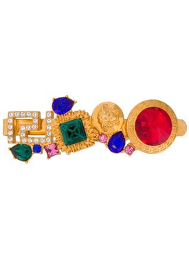 Versace - Greek Key Crystal Hair Pin Multicolor Stone - Women