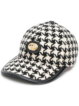 Gucci - Houndstooth Claudia Cap - Women
