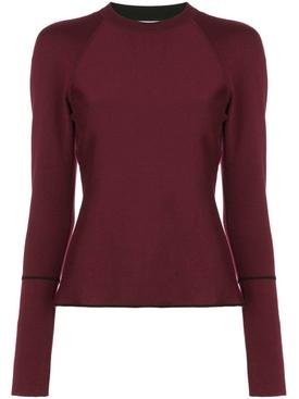 Bordeaux crew neck sweater