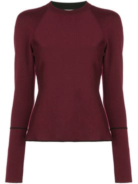 Casasola - Bordeaux Crew Neck Sweater - Women