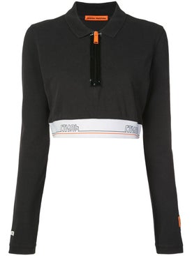 Heron Preston - Tape Cropped Polo Shirt - Women