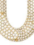 Burberry - Gold Crystal Chain Link Hoop Earrings - Women