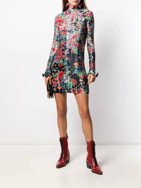 Givenchy - Ruffled Floral Mini Dress - Women