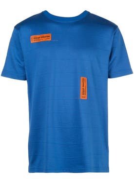 Heron Preston - Front Double Logo T-shirt Blue - Men