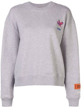 Heron Preston - Grey Logo Embroidered Sweatshirt - Women