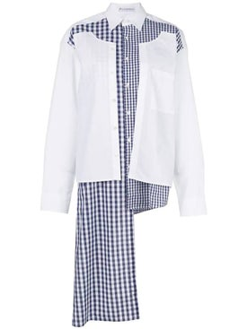 J.w. Anderson - Double Placket Gingham Patchwork Shirt - Women