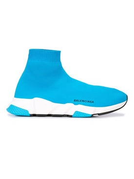 Balenciaga - Turquiose Speed Sock Sneakers - Men