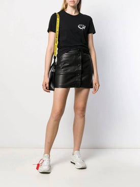 Off-white - Heart Logo T-shirt Black - Women