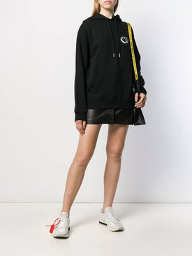 Off-white - Dripping Heart Logo Hoodie Black - Women