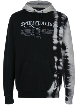 spiritualist tie-dye hoodie