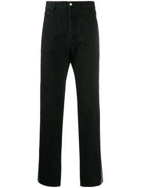 reflective panel jeans BLACK