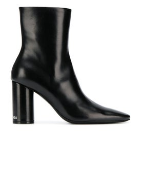 Balenciaga - Oval Leather Booties Black - Women