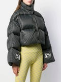 Off-white - 3d Cropped Puffer Jacket Black - Women