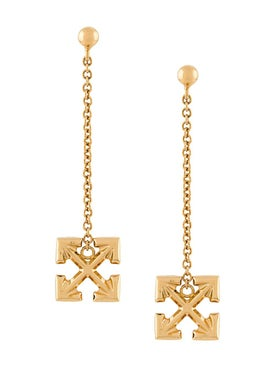 Off-white - Arrow Cross Pendant Earrings Gold - Women