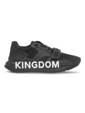 Burberry - Black Kingdom Print Sneakers - Men