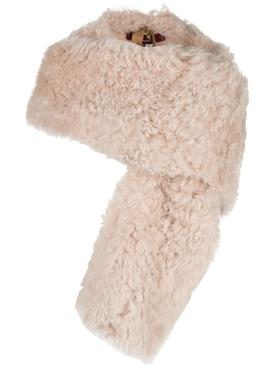 Jordi sheep skin shrug Beige