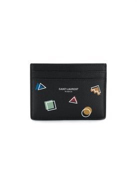 Saint Laurent - Geometric Shape Print Cardholder - Men
